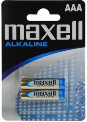 Baterie. 2x bateria alkaliczna. Maxell Alkaline LR03/AAA