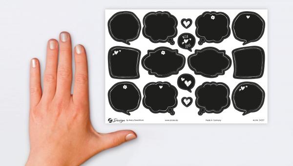 Naklejki dekoracyjne - Czarna tablica (54557)