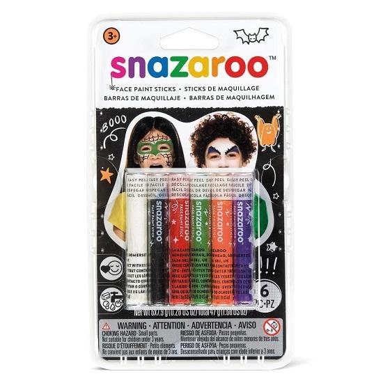 Kredki do malowania twarzy Snazaroo, 6 kol. - Halloween