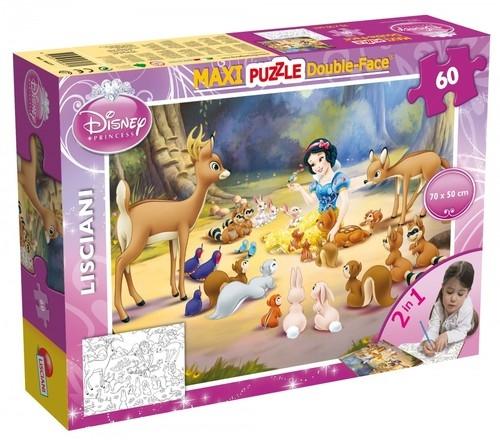 Puzzle dwustronne maxi Królewna Śnieżka 60 (46577)