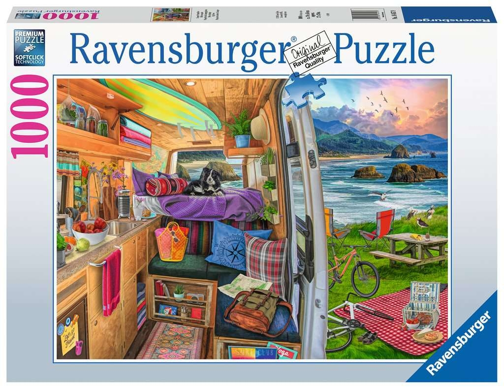 Puzzle 1000: Widok z kampera (16457)
