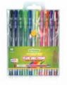 Długopisy żelowe fluorescencyjne 10 kolorów (CR816W10)