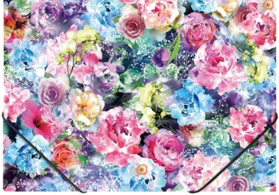Teczka na gumkę A4 z nadrukiem Roses