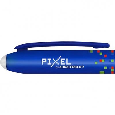 Długopis olejowy Emerson termościeralny pixel 0,7 mm niebieski (p-dlunie-1x12)