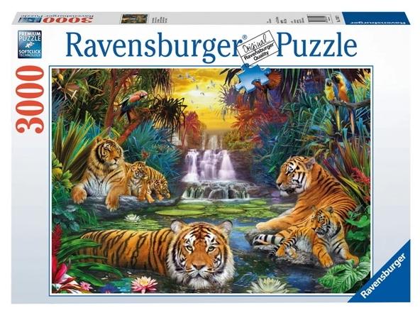 Puzzle 3000: Tygrysy przy wodopoju (170579)