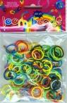 Gumki Loom Bands kolory podstawowe 200 szt silikon