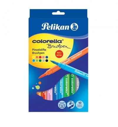 Flamastry Pędzelkowe Colorella, 10 kolorów
