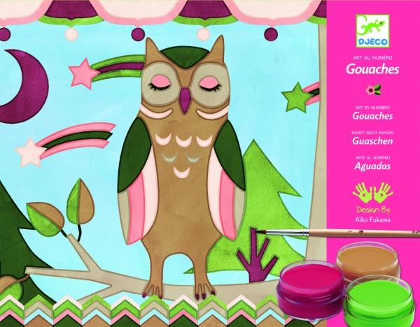 Zestaw artystyczny z farbami Zwierzęta Aiko (DJ08657)