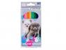 Kredki ołówkowe 12 kolorów - Kotki