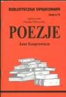 Biblioteczka Opracowań Poezje Jana Kasprowicza