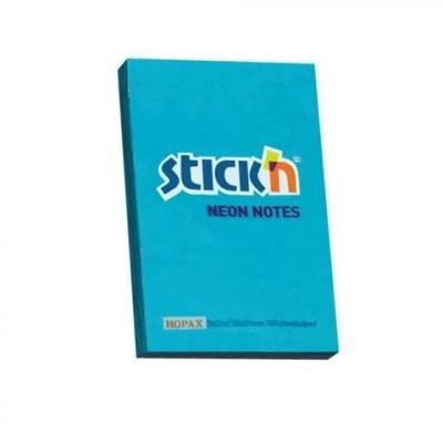 Notes samoprzylepny 76x51mm neon niebieski