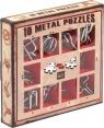 Łamigłówki metalowe 10 sztuk zestaw czerwony