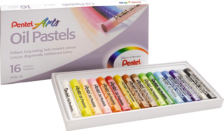 Pastele olejne Pentel - 16 kolorów (PHN-16)