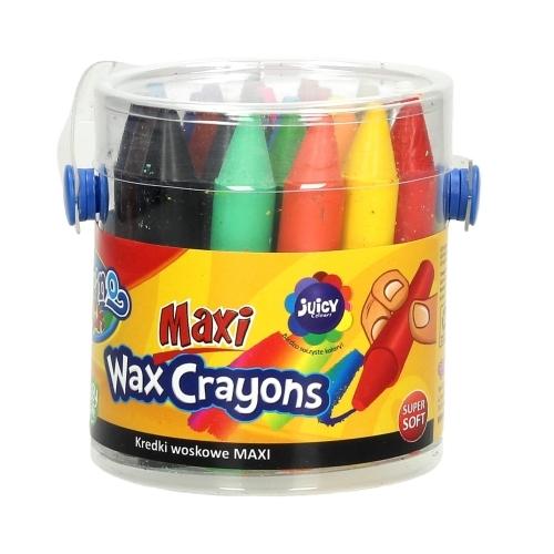 Kredki woskowe Colorino Kids Maxi, 24 kolory (65580PTR) (OUTLET - USZKODZENIE)