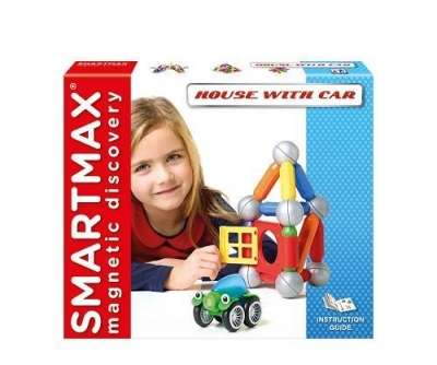 SmartMax Domek z samochodem - klocki magnetyczne