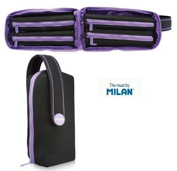 Multipiórnik owalny Neoprene fioletowy MILAN
