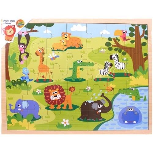 Układanka drewniana Safari Puzzle 35 elementów (1567581)