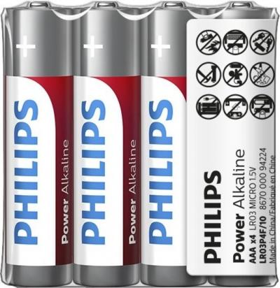 Bateria Philips Power Life LR03 AAA 4 szt w folii