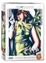 Puzzle 1000 Młoda kobieta w zielonej sukni