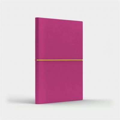 Notatnik A5 Fun M kratka różowy/cytrynowy