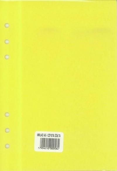Wkład do organizera A5 Czysta żółta ANTRA