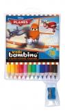 Kredki Bambino drewniane 12 kolorów z temperówką Planes