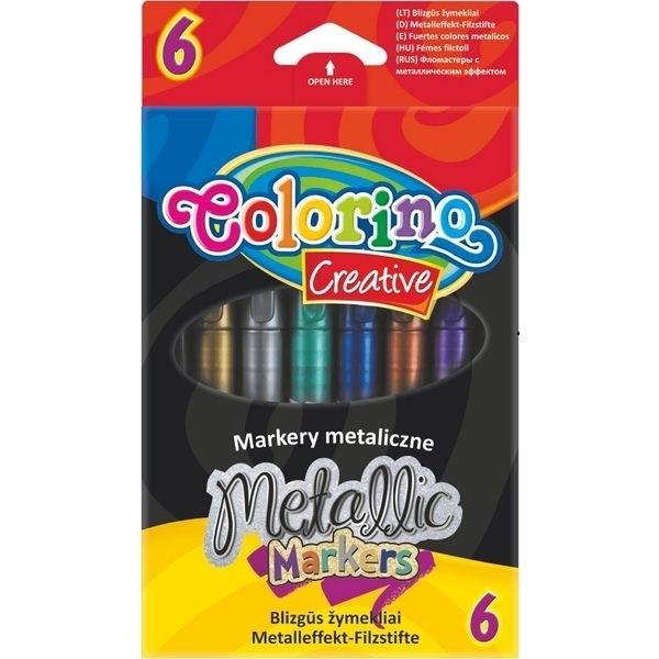 Markery metalizowane Colorino Creative, 6 kolorów (32582PTR)