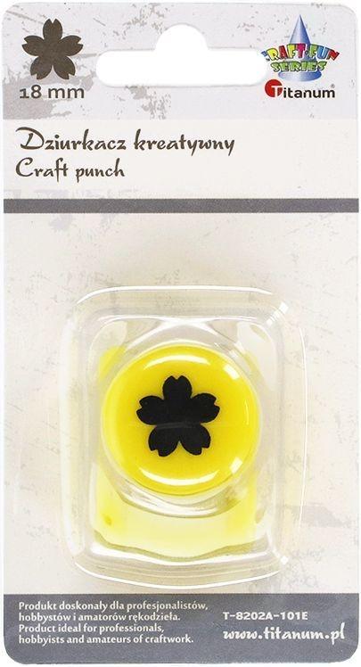 Dziurkacz Titanum Craft-fun kreatywny 18mm kwiatek pełny żółty