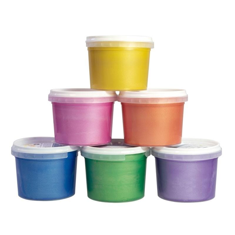 Farby metaliczne do malowania palcami Milan 6 x 100 ml (0353906)