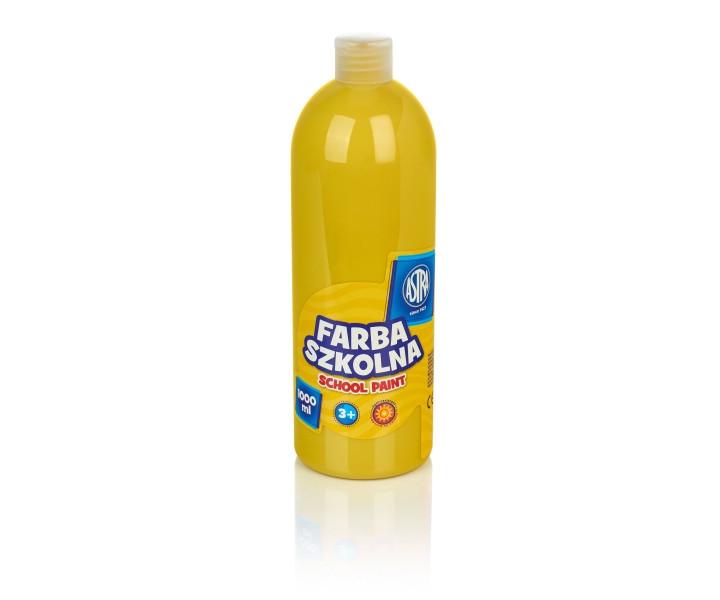Farba szkolna Astra 1000 ml - żółta (301217053)