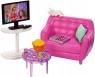 Barbie: Mebelki do domku - zestaw wypoczynkowy do salonu