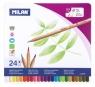 Kredki ołówkowe Milan BIG LEAD 213 sześciokątne, 24 kolory w metalowym opakowaniu (80058)