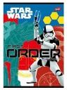 Zeszyt A5 16k linia podwójna dwukolorowa Star Wars Epizod VII laminowany