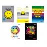 Zeszyt A5/60k linia - SmileyWorld (9575580)mix wzorów