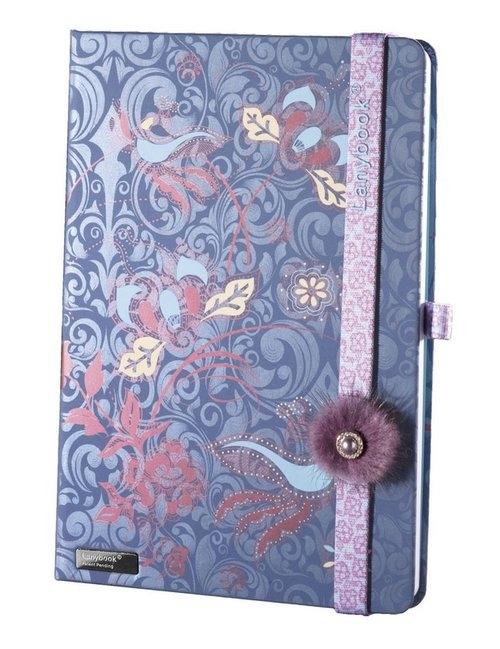 Notes A5 Lanybook Phenomenal Fluffy w kratkę niebieski