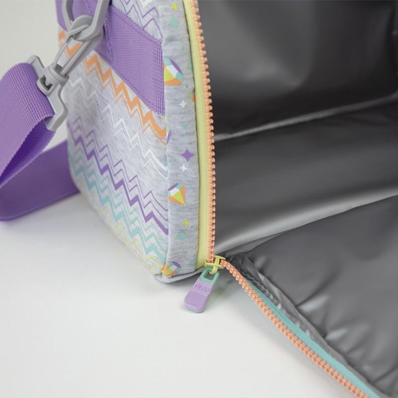 Termiczna duża torba na żywność 5l Milan Sugar Diamond - Szara (08808SD)