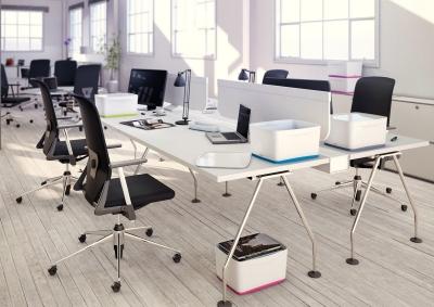 Przybornik na biurko Leitz my box organizer podłużny - biało-szary (52581001)