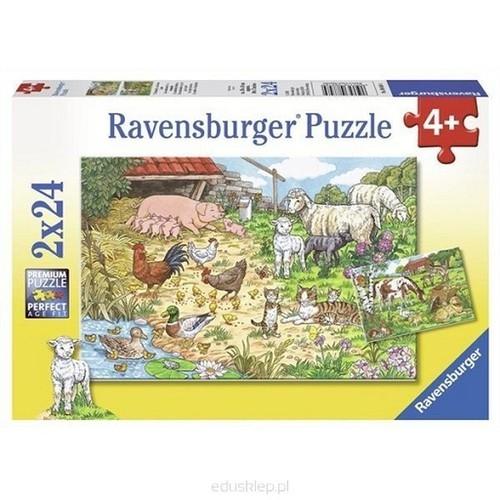 Puzzle Zwierzęta na farmie 2x24 (088584)