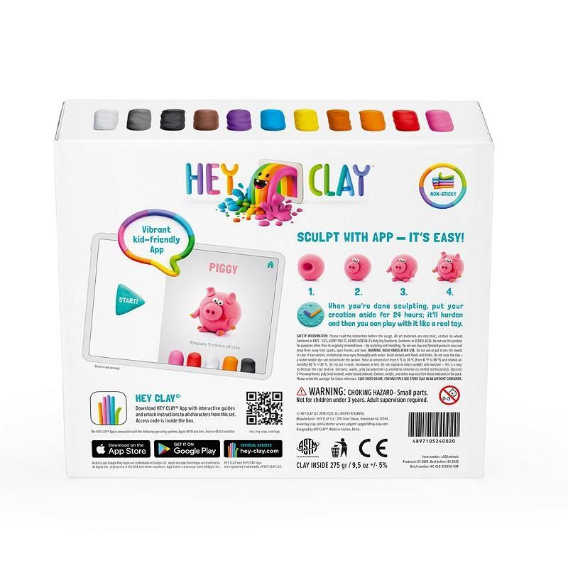 Hey Clay: masa plastyczna - Zwierzęta (HCLSE002)