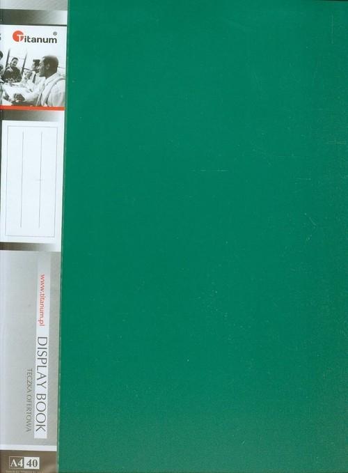 Teczka A4 ofertowa 40 kieszeni zielona