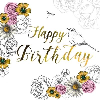 Karnet Swarovski kwadrat CL1403 Urodziny kwiaty