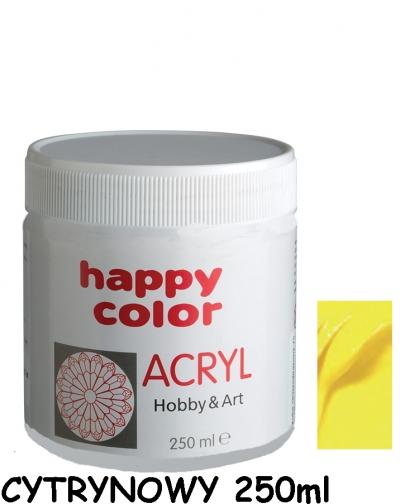 Farba akrylowa 250 ml - cytrynowy (7370 0250-12)