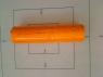 Etykieta cena typ D pomarańczowa 5szt