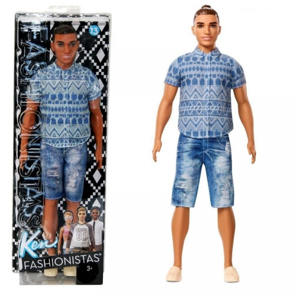 Barbie Ken szorty jeans, koszula (DWK44/FNJ38)