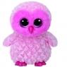 Beanie Boos: Twiggy - maskotka Różowa Sowa, 24cm (37158)