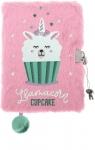 Pamiętnik z kłódką włochacz Lama Cupcake A5, 96 kartek