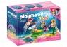 Playmobil Magic: Rodzina syrenek z wózkiem z muszli (70100)Wiek: 4+