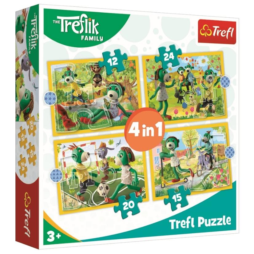 Puzzle 4w1: Wspólne zabawy Treflików (34358)