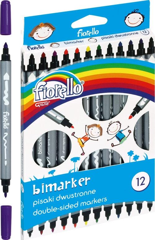 Pisaki Bimarker dwustronne 12 kolorów (282306)