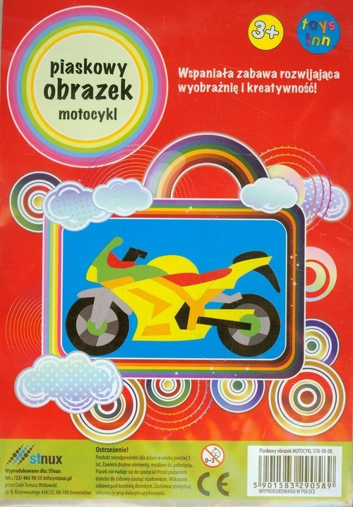 Piaskowy obrazek Motocykl